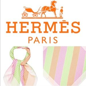 "Hermès limited edition ""H en bias"" scarf"